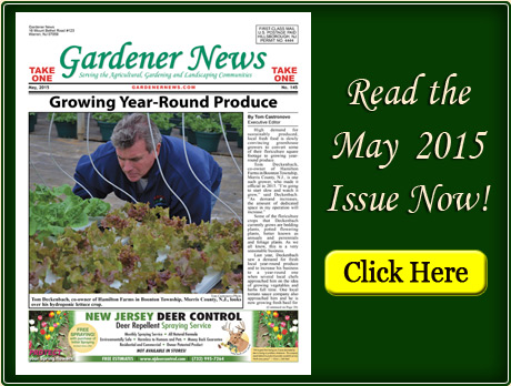 Read the May 2015 issue of the Gardener News