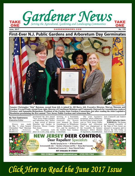 Click here to read the June 2017 issue of the Gardener News online