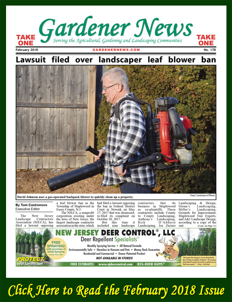 Click here to read the February 2018 issue of the Gardener News online