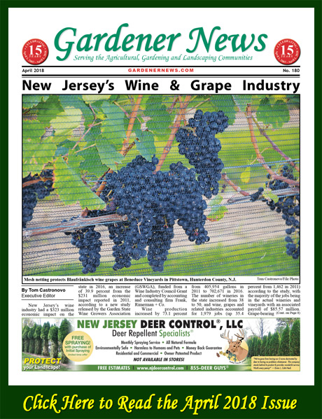 Click here to read the April 2018 issue of the Gardener News online