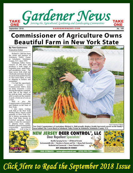 Click here to read the September 2018 issue of the Gardener News online