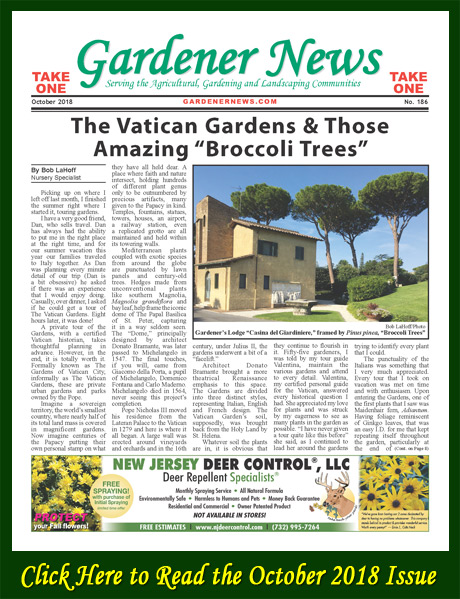 Click here to read the October 2018 issue of the Gardener News online