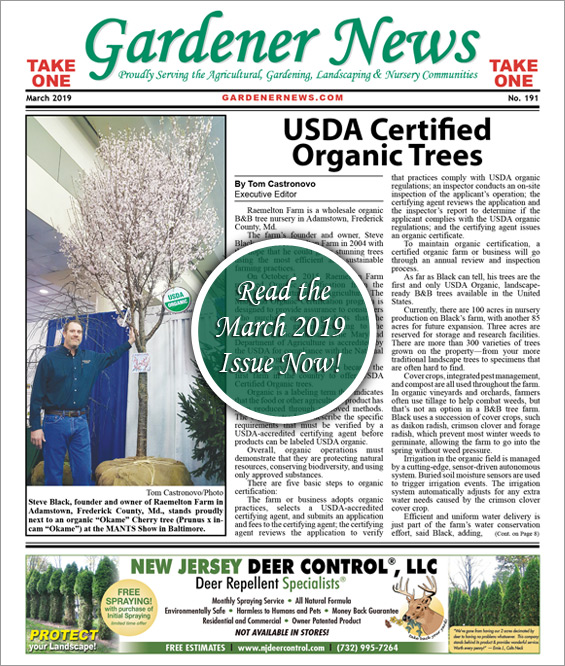 Read the March 2019 issue of the Gardener News