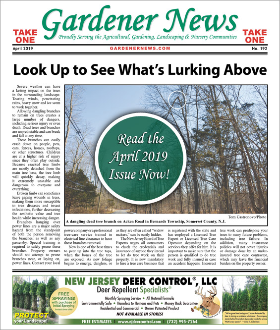 Read the April 2019 issue of the Gardener News