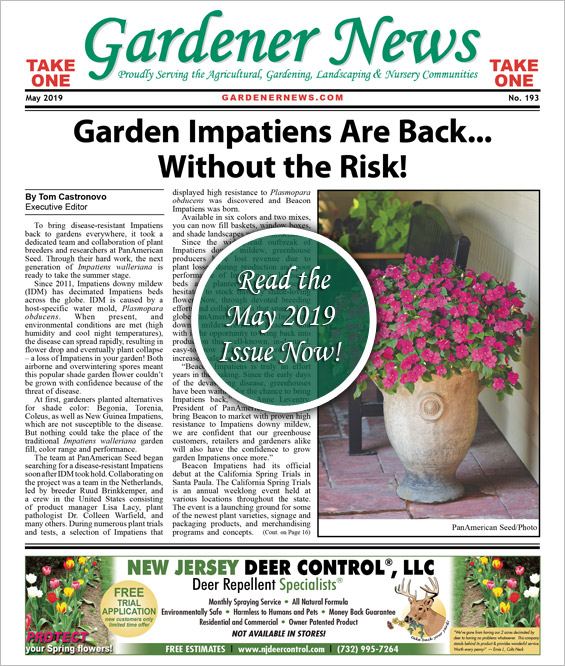 Read the May 2019 issue of the Gardener News