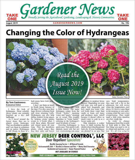 Read the August 2019 issue of the Gardener News