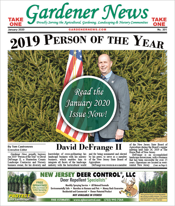 Read the January 2020 issue of the Gardener News